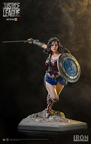 Iron Studios IS300980 1:10 Justice League Wonder Woman Art Scale Statue, Red/Blue