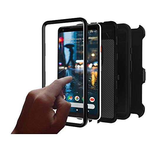 OtterBox Defender Series (Screenless Edition) Case & Holster for Google Pixel 2 XL (Certified Refurbished) (Black)