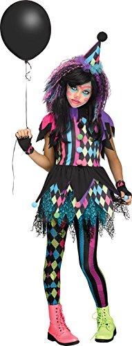 Fun World Twisted Circus Costume, Black, Large 12-14