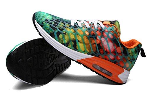 GFONE - Zapatos de tacón  mujer, color naranja, talla 40 EU