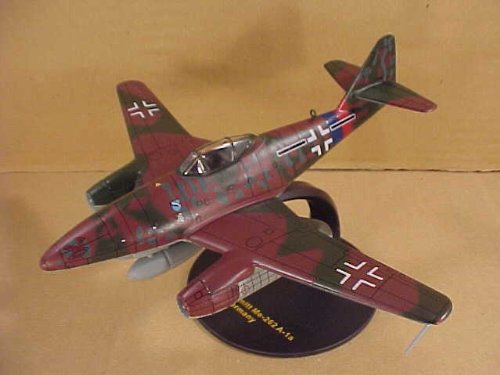 IXO JUNIOR MODELS 1/72 Scale Prefinished Fully-Detailed Diecast Model, German WWII Messerschmitt Me-262-A-1a Luftwaffe Jet Fighter Bomber DDIJ00007