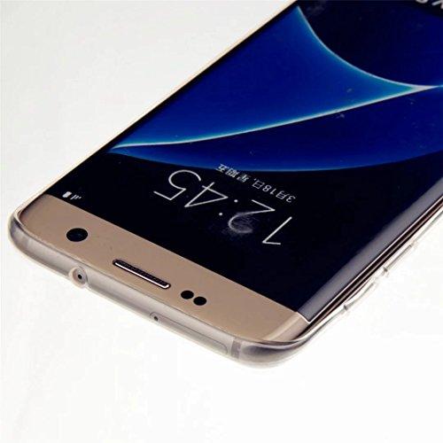 Funda Galaxy S7 Rosa,Galaxy S7 Carcasa Silicona Gel MUTOUREN Case Ultra Delgado TPU Goma Flexible Funda Samsung Galaxy S7 - Colgante unicornio Deep Purple