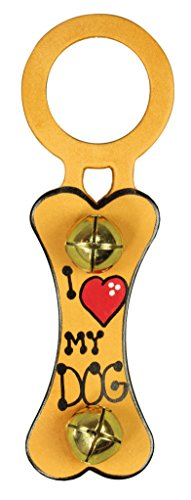 Belsnickel, I Love (Heart) My Dog, Bone Doorknob Bell Hanger