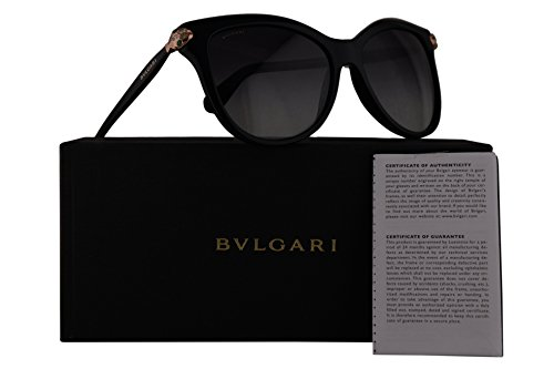 Bvlgari BV8188B Sunglasses Black w/Grey Gradient Lens 57mm 5018G BV 8188B BV8188-B BV 8188-B - Bv Sunglasses