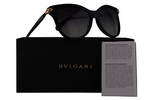 Bvlgari BV8188B Sunglasses Black w/Grey Gradient Lens 57mm 5018G BV 8188B BV8188-B BV 8188-B - Bulgari Eyewear
