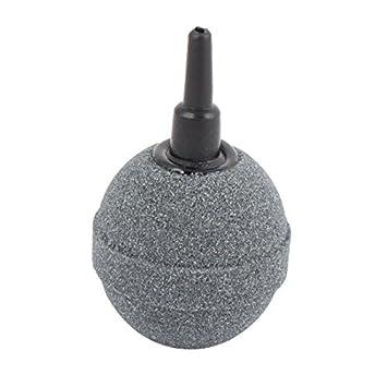 DealMux acuario bola hidroponía en forma de burbuja aireador de pecera bomba del estanque de disco del aire del difusor gris piedra: Amazon.es: Productos ...