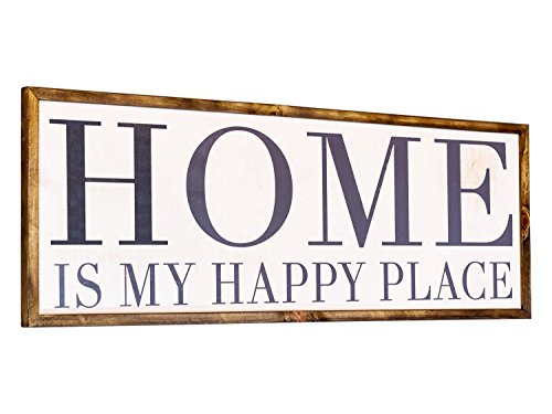 Large Framed Farmhouse Sign 12x36, White Hand Painted Rustic Sign - White Birch Farm