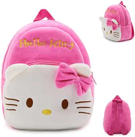 New Soft Plush For Kids Backpack Cartoon School Bags Cute Hello Kitty  Multicolored kindergarten Baby gifts 385ed59fa3040