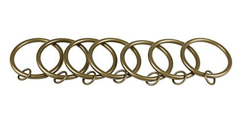 Gold Drapery (Urbanest Metal Curtain Drapery Eyelet Rings, 2-inch Inner Diameter, Set of 28, Antique Gold)