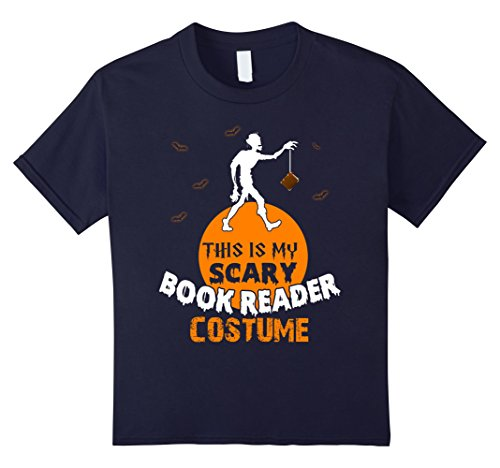 Book Nerd Costume (Kids Scary Halloween Costumes For Book Lover. Halloween Shirt. 12 Navy)