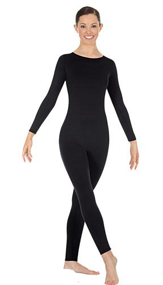 Eurotard Child Long Sleeve Unitard (44130c) -BLACK -L
