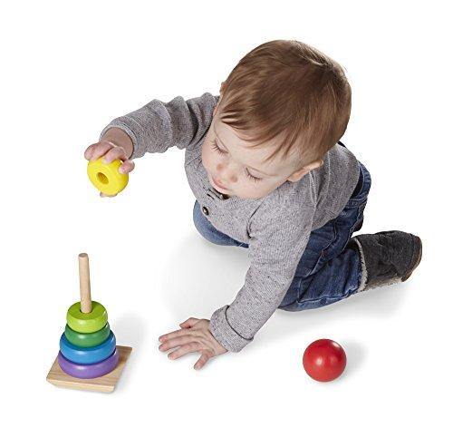 Melissa And Doug Educational Toys : Melissa doug rainbow stacker wooden ring educational toy