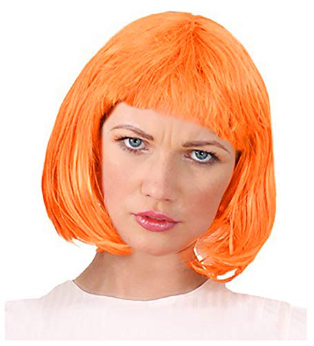 Orange Bob Wig Leeloo Costume Leeloo Wig 5th Element Costume Leeloo Costume]()