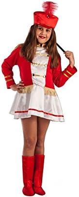 El Rey del Carnaval Disfraz de Majorette Roja para niña: Amazon.es ...