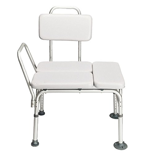 9TRADING Height Adjustable Medical Shower Chair Bath Tub With Padded Seat Bench Stool, Free Tax, Delivered