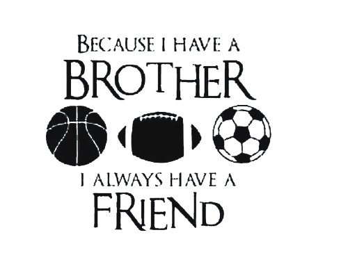 Dailinming PVC Wall Stickers Wall Sticker Decal Quote Vinyl Brothers Friends Kid Room Sports Decor Wall Quote Decal 51X58CM