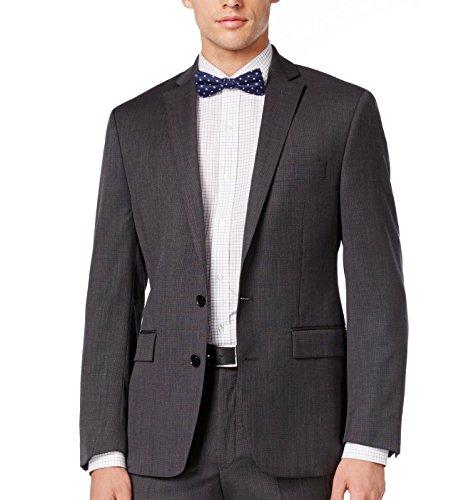 Ryan Seacrest Distinction Men's Slim-Fit Birdseye Jacket (40L, Grey) Birdseye Jacket