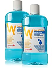 Pearlie White Fluorinze Alcohol Free Antibacterial Fluoride Mouth Rinse