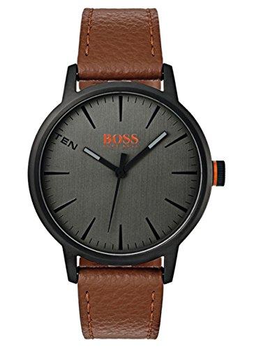 Hugo Boss Orange Herren-Armbanduhr Quarz mit Leder Armband 1550054