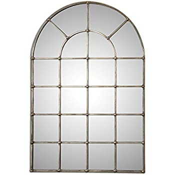 Amazon Com 82 Quot Antiqued Window Arch Mirror Wall Or Floor