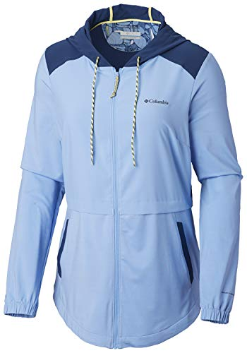 Columbia Women's Sandy Trail Full Zip, White Cap, Carbon, White Cap Heather, Large