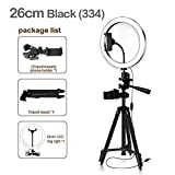XYSQWZ LED Ring Light with Camera for Tripod and Phone Stand for Makeup Light Ring Light Selfie Vlog Live Streaming YouTube