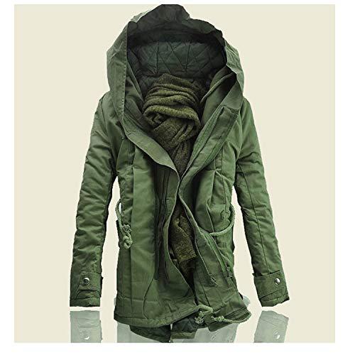 Men Jacket and Coats Winter Men Warm Coats Fashion Men Jackets Downs Casual Men Thick Outwears,Army Green,6XL