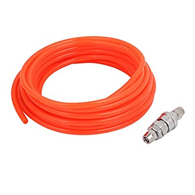 uxcell Quick Connector 9M 30Ft Long 8mmx6mm Dia Polyurethane Tube PU Air Pipe Orange