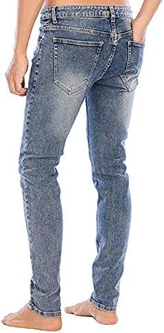 41vcV nrmLS. AC LONGBIDA Men's Slim Fit Jeans Stretch Tapered Leg Jean    Product Description