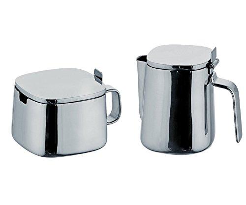 Alessi Kristiina Lassus Design Series Stainless Steel Sugar Bowl & Creamer (Alessi Steel Bowls)