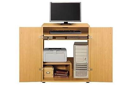 eadc9555c466 Ex Argos Malibu Hideaway Beech Desk Workstation for Home Office Flat ...