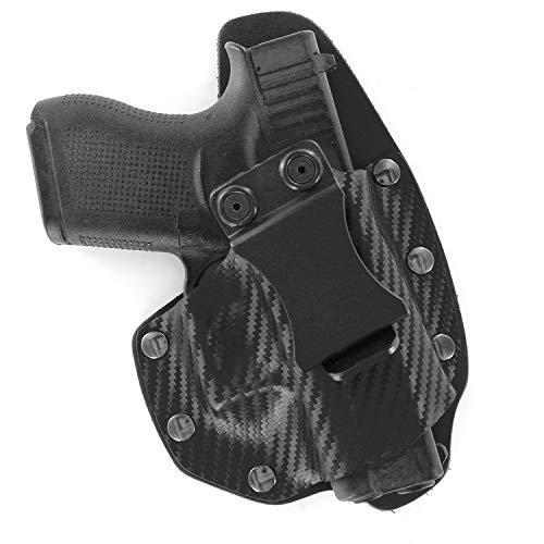 NT Hybrid IWB Black Carbon Fiber & Leather Holster (Right-Hand, Glock 48)