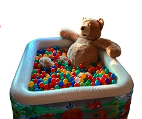 ATS Water Ball Pit Kids Inflatable Pool Outdoor Toys Swimming Plastic Water Wading Square Garden Outside Summer Fun & eBook by AllTim3Shopping. by ATS