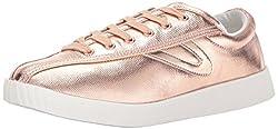Tretorn Women's Nyliteplus Sneaker, Rose Waxy Canvas, 9.5 M Us