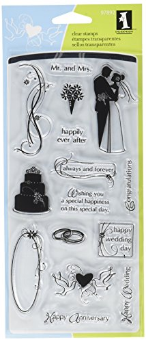 Inkadinkado Clear Stamp Set for Wedding Invitations and Cards, 15pc ()