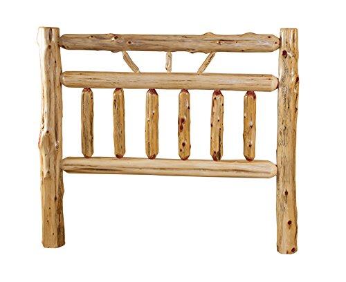 (Rustic Red Cedar Log Bed- KING SIZE - Wagon Wheel StyleHEADBOARD ONLY)