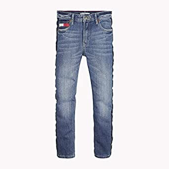 TOMMY HILFIGER Kids Relaxed Cropped Jeans, Varsity Blue, 10