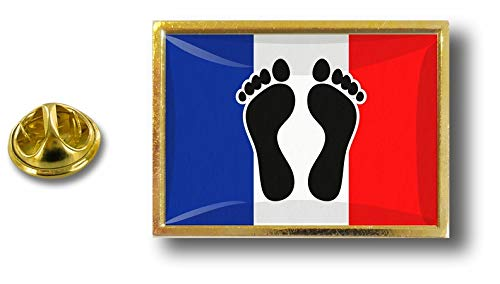 Pin's Avec Badge Papillon Pins Drapeau Pin Akacha Pince Metal Noirs Pieds France tBqSp46