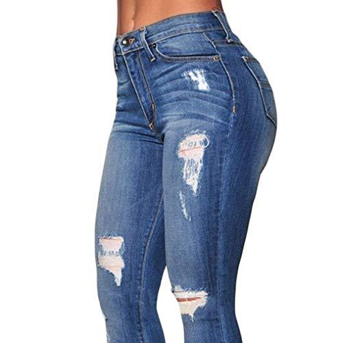 Vita Pantaloni Chic Da Jeans E Uomo A Donna Alta Blau Classici HxwI4gqwU