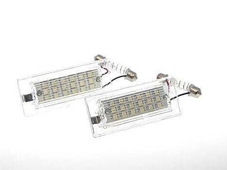 TMT LEDS(TM) PLAFONES LED MATRICULA HOMOLGADO E4 CE LUCES LED: Amazon.es: Coche y moto