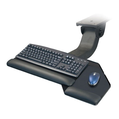 ESI Ergonomic Solutions ESISOLUTION4 Combo Solution 4, With Mouse Forward Keyboard Platform, Sit-Stand Articulating Arm, Black