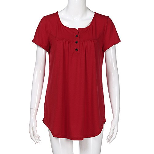 Shirt shirt Hiver Femme Manches Basique Rouge Amincissant Courtes Plier Élégant Sanfashion Bouton Chic Longue Manche Sweat Tops Haut gRqwAq