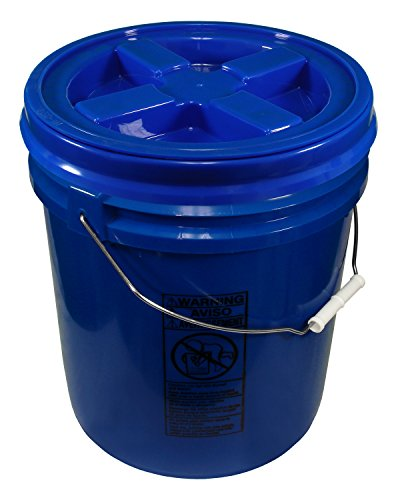 Blue 5 Gallon 90 mil Bucket with Gamma Seal Lid (Blue)