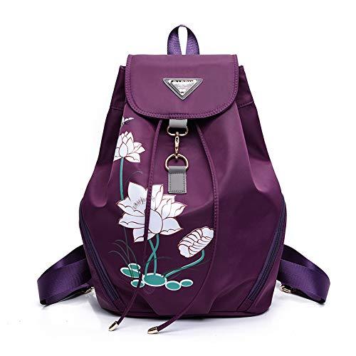 Tempo Scuola Zaino Coreana Tracolla Nuovi Moda Versione Purple Viaggi Universitario Vento Tela Piccolo Da Libero Signore A Nylon Borsa xqwYFqzTO