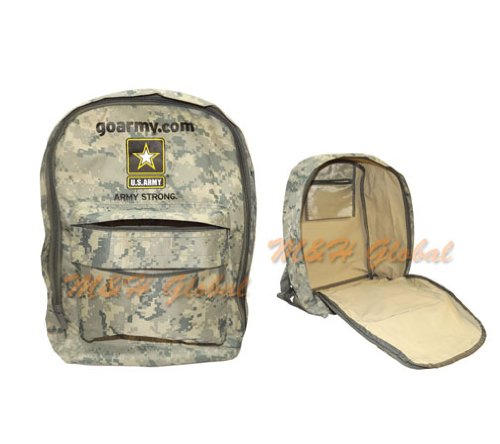 Go Army Strong BACKPACK Back Pack School Kids Men 17