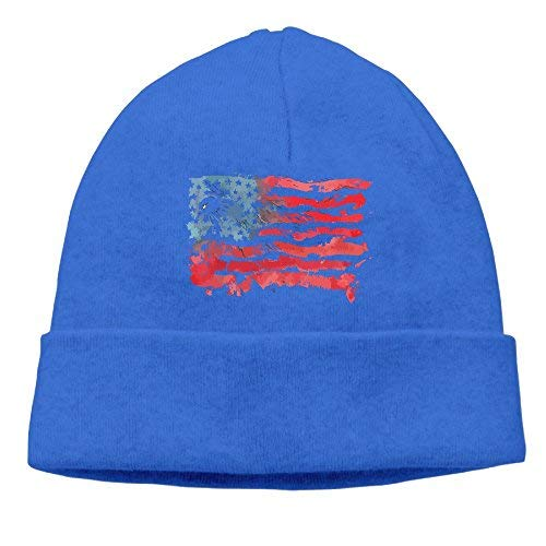 Unisex Watercolor American Flag Bald Eagle Classic Fashion Daily Beanie Hat Skull Cap