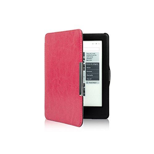 Meijunter Rose Flip Slim Auto Sleep PU Leather Shell Cover Case For Kobo Glo HD & Kobo Touch 2 eReader