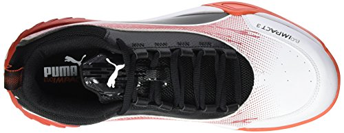 Puma Chaussures Blanc White black de Evoimpact 3 Fitness Tomato cherry 3 Homme rAAxqwt0