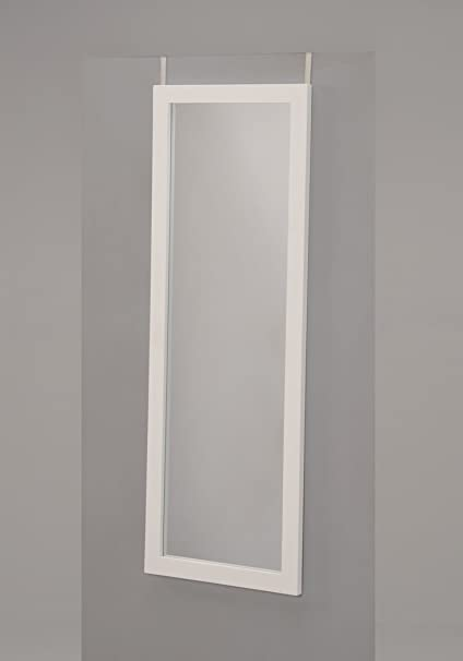 Merveilleux White Finish Wooden Cheval Bedroom Wall Mount Mirror Or Over The Door