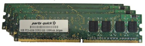 Dell 1 Gb Memory Upgrades - 4GB Memory Upgrade for Dell Dimension 8400 Desktop PC 4 X 1GB DDR2 NON-ECC PC2-4200 240 pin 533MHz DIMM RAM (PARTS-QUICK BRAND)